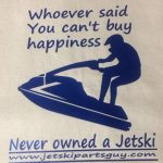 JSPG T-Shirt Blue Jet Ski Happiness Design 2