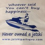 JSPG T-Shirt Blue Jet Ski Happiness
