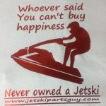 JSPG T-Shirt Red Jet Ski Happiness Design 2