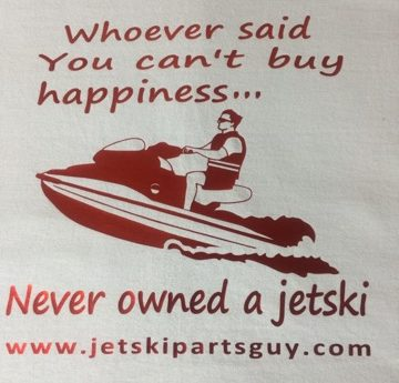JSPG T-Shirt Red Jet Ski Happiness